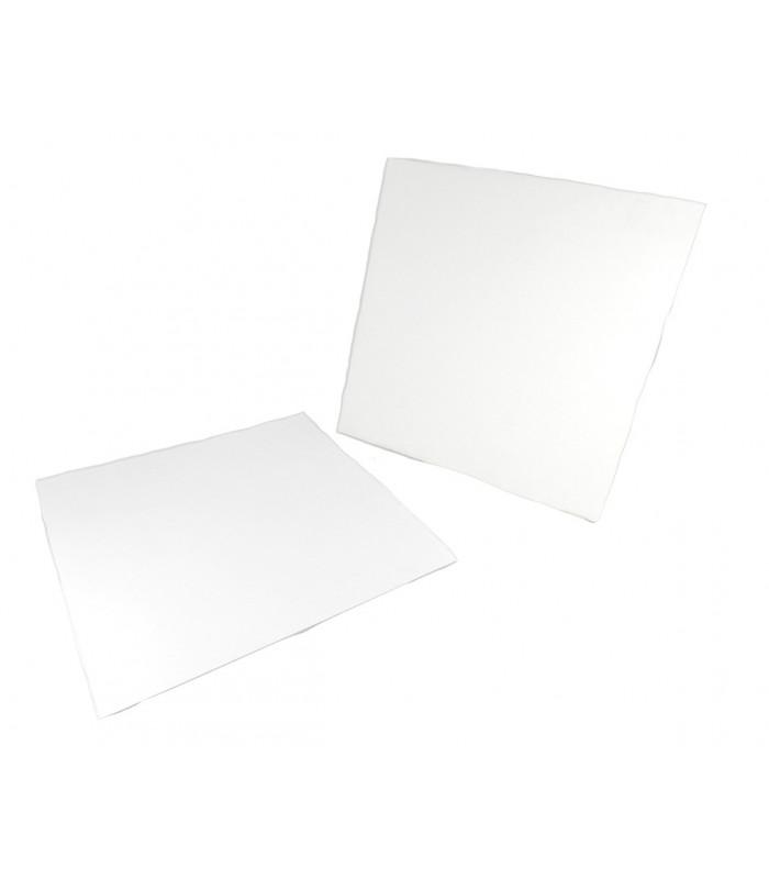 Stecche sottotorta quadrate in cartone bianco in varie misure