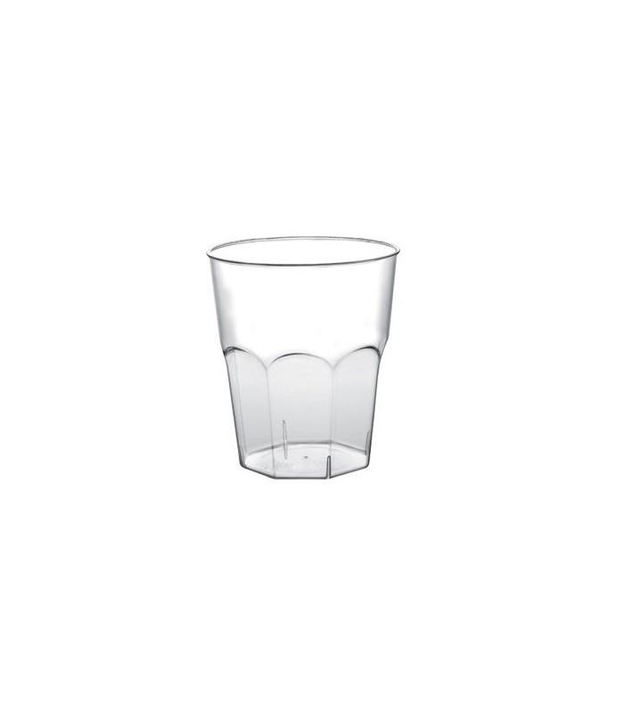 Bicchierino ottagonale trasparente in plastica per degustazione