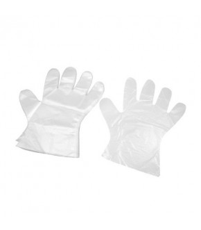 Polythene trasparent hygienic Gloves