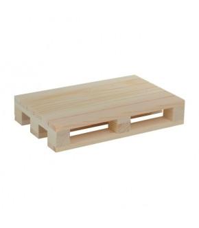 Minipallet tagliere in legno naturale