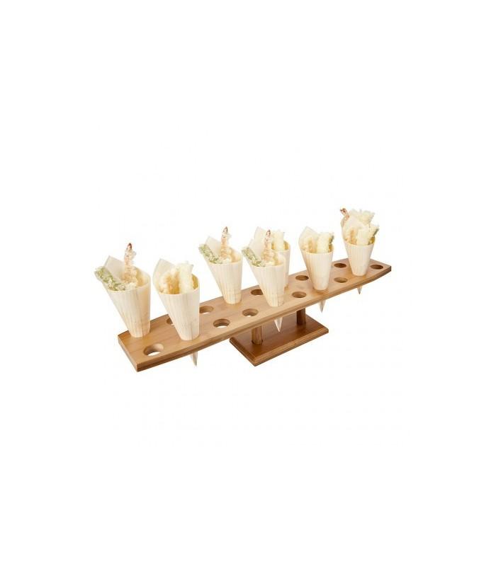 Porta coni rettangolare in legno di pino