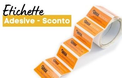 ETICHETTE ADESIVE E SCONTO